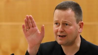 Klaus Lederer (Die Linke),Berliner BürgermeisterSenator für Europa und Kultur, in einer Gesprächssituation am 16.03.2019 in Brandenburg. (picture alliance/Nestor Bachmann/dpa/ZB)