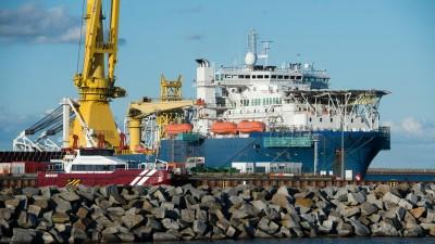 Russische Verlegeschiff im Juli 2020 vor Rügen (picture alliance / dpa / Stefan Sauer)
