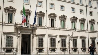 Eingang des Palazzo Chigi, des Amtssitzes des italienischen Ministerpräsidenten  (picture alliance/Pacific Press Agency/Amdrea Ronchini)