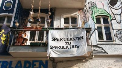 Protest in Berlin-Friedrichshain (picture alliance/dpa/Foto: Wolfram Steinberg)