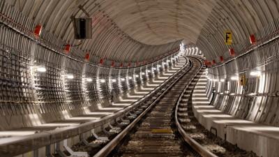 Ein Blick in den Tunnel indem die U5 ihren Weg nehmen wird.  (Antonio Reetz-Graudenz)