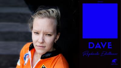 """Die Schriftstellerin Raphaela Edelbauer und ihr Roman """"Dave"""" (Cover Klett-Cotta Verlag, Autorenportrait [c] Victoria Herbig)"""