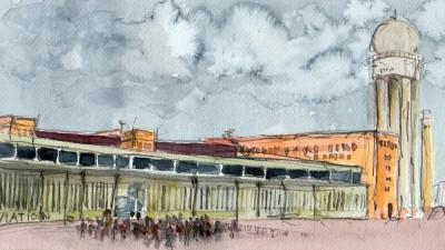 Illustration: Flughafen Tempelhof (Anselm Magnus Hirschhäuser)