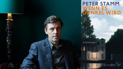 """Der Autor Peter Stamm und sein Roman """"Wenn es dunkel wird"""" (Buchcover Fischer Verlag / Autorenportrait (c) Anita Affentranger)"""