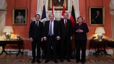 Premierminister Johnson empfängt mehrere Staats- und Regierungschefs vor dem Nato-Treffen (AFP)