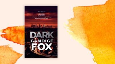 """Cover von Candice Fox' Buch""""Dark"""" auf orange-weißem Grund (Suhrkamp / Deutschlandradio)"""