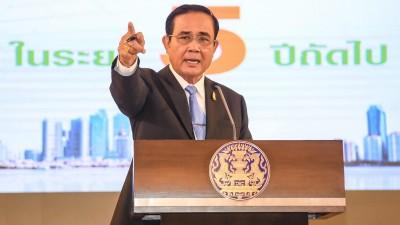 Der thailändische Ministerpräsident Prayuth Chan-ocha spricht auf einer Pressekonferenz (dpa / Pacific Press / Vichan Poti)