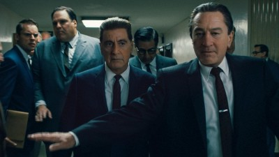 "Szene aus dem Film ""The Irishman"" mitAl Pacino als Jimmy Hoffa und Robert De Niro. (picture alliance / Netflix)"