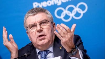 Thomas Bach, Präsident des Internationalen Olympischen Komitees (IOC) spricht bei einer Pressekonferenzim südkoreanischen Pyeongchang. (picture alliance / dpa / Michael Kappeler)