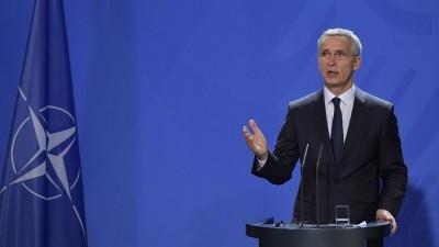 Das Foto zeigt NATO-Generalsekretär Jens Stoltenberg in Berlin. (AFP / Tobias Schwarz)