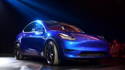 Das neue Tesla Model Y (AFP / Frederic J. BROWN)