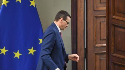 Polens Premier Mateusz Morawiecki 2020 im Warschauer Sejm (picture alliance / PAP / Radek Pietruszka)
