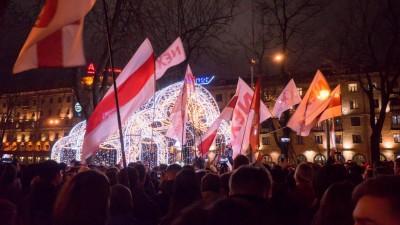 """Der Video-Blogger """"Nechta"""" hat in Minsk zu einer Versammlung aufgerufen. (Deutschlandradio / Florian Kellermann)"""
