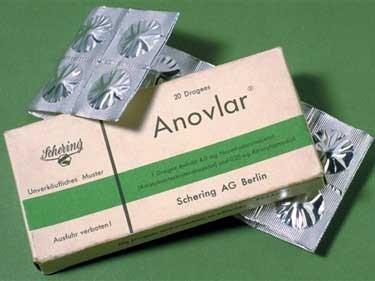 Verpackung antibabypille grüne Die Pille