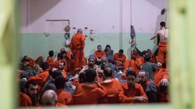 IS-Kämpfer im Gefängnis Hassake in Syrien (imago/Chris Huby)
