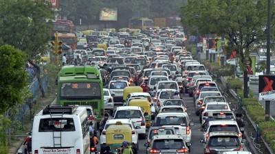 Verkehrsstau in Delhi. (imago / Hindustan Times)