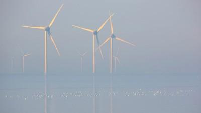 Blick auf den Offshore-Windpark von Neeltje Jans im Morgennebel. (imago / Blickwinkel / W.Pattyn)