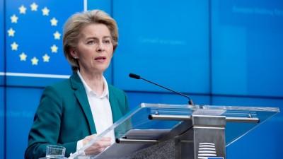 EU-Kommissionspräsidentin von der Leyen am Rednerpult (picture alliance / XinHua)