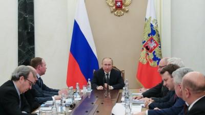 Der Russische Präsident Putin am 13.01.2020 während eines Treffens im Kreml. (dpa / picture alliance / Sputnik / Klimentyev)