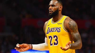 LeBron James im Trikot der LA Lakers (imago sportfotodienst)