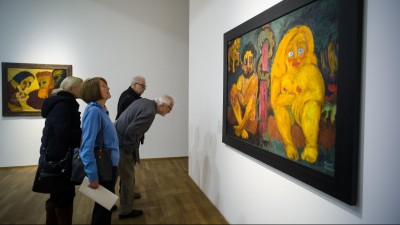 Im Hamburger Bahnhof in Berlin ist eine neue Ausstellung mit Bildern von Emil Nolde zu sehen. (picture-alliance / dpa / Markus Schreiber)