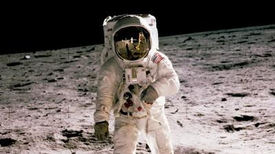 20. Juli 1969 - Astronaut Buzz Aldrin auf dem Mond (NASA)