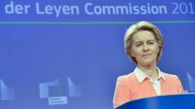 Die Kommissionspräsidentin Ursula von der Leyenam10.09.2019 in Brüssel bei der Vorstellung ihrer neuen EU-Kommisssare. (picture alliance/ Nicolas Landemard / Le Pictorium/ MAXPPP)