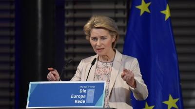 Europa-Rede der designierten EU-Kommissionschefin Ursula von der Leyen am 8.11.2019 in Berlin (AFP / Tobias Schwarz)