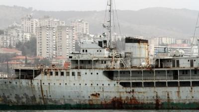 DasStaatsyacht 'Galeb' des ehemaligen Regierungschef JugoslawiensTito im Hafen vonRijeka, Kroatien. (imago stock&people)