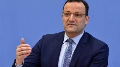 Bundesgesundheitsminister Jens Spahn (CDU) spricht über die aktuelle Corona-Lage in Deutschland. (dpa-Bildfunk / AFP Pool / John Macdougall)