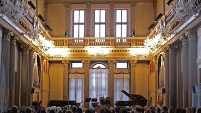 Der Konzertsaal des Conservatorio Benedetto Marcello in Venedig (Foto: Sara Scanderebech)