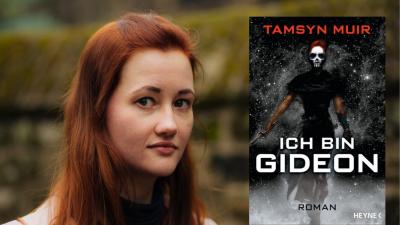 """Die Schriftstellerin Tamsyn Muir und ihr Roman """"Ich bin Gideon"""" (Cover Heyne Verlag, Autorenportrait © Vicki Bailey/VHB Photography)"""