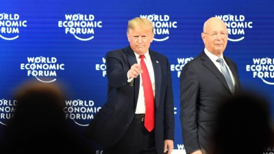US-Präsident Donald Trump und WEF-Chef und Gründer Klaus Schwab am 21.1.2020 in Davos, Schweiz (imago / Xinhua)