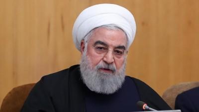 Der iranische Präsident Hassan Rohani eine Kabinettssitzung. - Handout vom 8. Januar 2020. Ruhani hat sich zu den Raketenangriffen auf vom US-Militär genutzte Stützpunkte im Irak geäußert. (picture alliance / Iranian Presidency)
