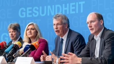 Pressekonferenz zum ersten Fall des neuartigen Coronavirus in Deutschland (dpa / Peter Kneffel )
