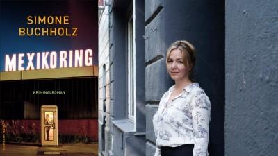 """Die Schriftstellerin Simone Buchholz und Ihr Kriminalroman """"Mexikoring"""" (Buchcover Suhrkamp Verlag / Autorenportrait ©Gerald von Foris/Suhrkamp Verlag)"""