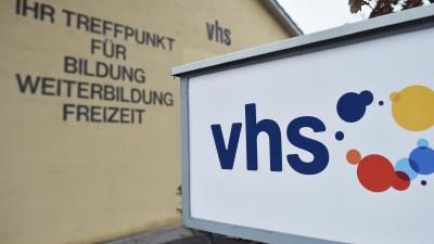 Das Logo der Volkshochschule (VHS) in Garmisch-Partenkirchen (picture alliance / Angelika Warmuth)