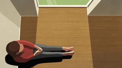 Illustration einer Frau die an einem Fenster sitzt und nach draußen schaut. (Gettyimages / fStop / Malte Mueller)