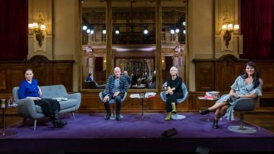 Thea Dorn, Christian Berkel, Dörte Hansen und Vea Kaiser (ZDF / Svea Pietschmann)