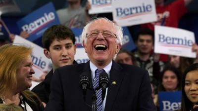Der US-Senator Bernie Sanders während einer Rede in Manchester, New Hampshire. (AFP /  TIMOTHY A. CLARY)