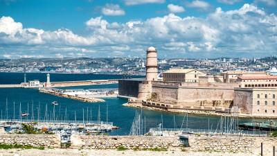 Blick auf das Fort Saint Nicholas in Marseille, Frankreich. (EyeEm / Alex Tihonovs)