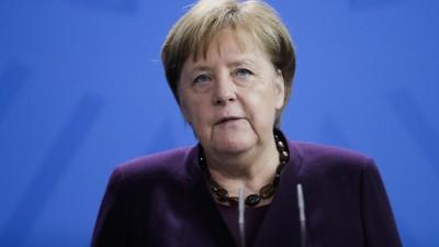 Bundeskanzlerin Merkel hat mit Entsetzen auf die Gewalttat von Hanau reagiert. (dpa / ap / Markus Schreiber)