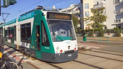 Die Verkehrsbetriebe Potsdam testen derzeit selbstfahrende Straßenbahnen (Deutschlandradio / Vanja Budde)