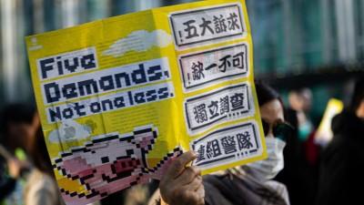 Laut Veranstalterangaben nahmen am 8. Dezember rund 800.000 Menschen an einer Demonstration in Hongkong teil. (dpa / picture alliance / Michael Nigro)