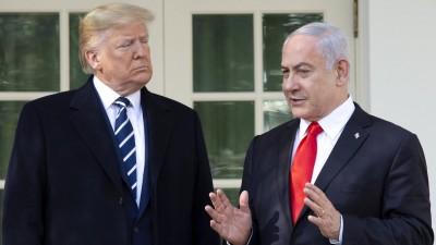 January 27, 2020, Washington, District of Columbia, USA: Benjamin Netanyahu, Prime Minister of the State of Israel, speaks to members of the media with United States President Donald J. Trump outside of the White House in Washington, D.C., U.S., on Monday, January 27, 2020. Washington USA PUBLICATIONxINxGERxSUIxAUTxONLY - ZUMAs152 20200127zaas152045 Copyright: xStefanixReynoldsx (www.imago-images.de)
