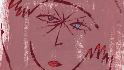 Ein Illustration zur Selbstliebe: Eine Figur nimmt sich selbst in den Arm. (imago images/viennaslide)